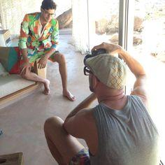 Mr Turk shooting Spring 2014 with Felix Bujo