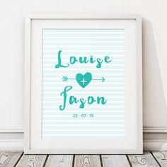 Your place to buy and sell all things handmade Custom Wedding Gifts, Wedding Gifts For Couples, Personalized Wedding, Happy Couples, Personalised Prints, Bride And Groom Gifts, Wedding Prints, Couple Gifts, Special Day