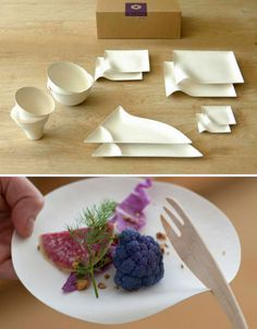 Reinventing Disposable: Elegant Japanese Paper Tableware | Designs & Ideas on Dornob