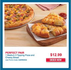 Domino's Pizza January 2017 Coupons - Get 1 Medium 3 Topping Pizza and Cheesy Bread For $12.99 -  http://www.groceryalerts.ca/dominos-pizza-january-2017-coupons-get-1-medium-3-topping-pizza-cheesy-bread-12-99/