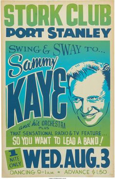 Sammy Kaye Stork Club Concert Poster (1955). Very Rare.... Music | Lot #89193 | Heritage Auctions