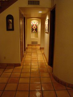 Terra cotta tile with typical color variations for Southwestern flooring