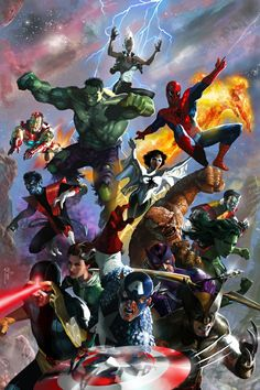 Avengers fantastic 4 and xmen