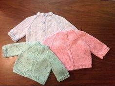 ▶ Star Stitch Raglan Baby Jacket by Stitch Niche - YouTube