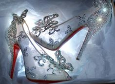 Chrisitian Louboutin designed a Cinderella slipper