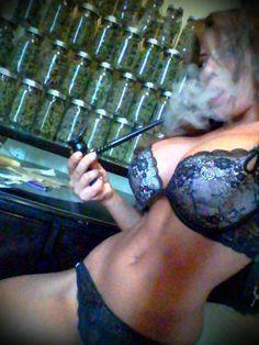 Hot Girl Smoking Weed!