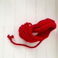 Katoen koord rood 6 mm x 10 meter - Kimya verpakkingen