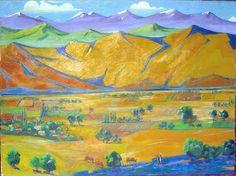1926 Armenia. Oil on canvas. 85x110 - Сарьян Мартирос Сергеевич
