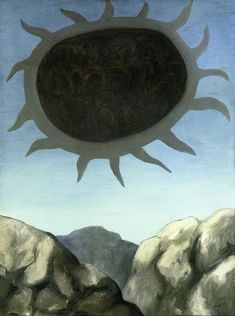 Eye of the Mountain by Rene Magritte