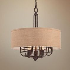 """possible bar pendants and hallway?  20W Franklin Iron Works Tremont 20"""" Wide Rust Pendant -"""
