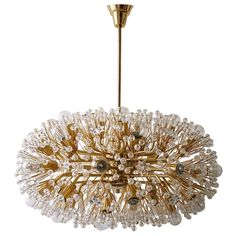 Huge 28' Gold-Plated Blowball Chandelier by Emil Stejnar Rupert Nikoll Vienna | 1stdibs.com