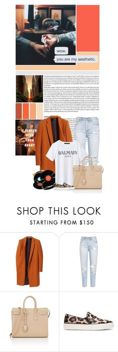 """Sometimes it seems that the going is just too rough And things go wrong no matter what I do Now and then it seems that life is just too much But you've got the love I need to see me through"" by iolandaa ❤ liked on Polyvore featuring Haider Ackermann, Yves Saint Laurent and Stuart Weitzman"