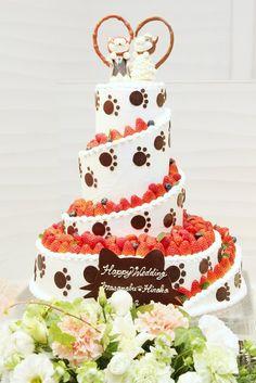 結婚式場写真「ネコちゃん大好きなお二人はこんなケーキも♪」 【みんなのウェディング】