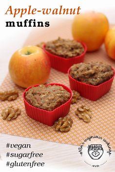 Nóri's ingenious cooking: Apple-walnut #muffins (#allergyfriendly, #vegan option, #healthy, #glutenfree, #sugarfree, #lowcarb, #dairyfree, #eggfree)