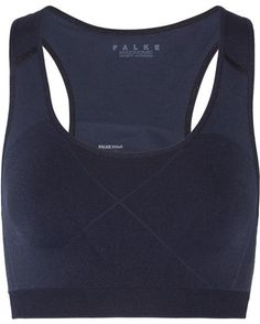 FALKE Ergonomic Sport System - Madison Stretch-jersey Sports Bra - Navy