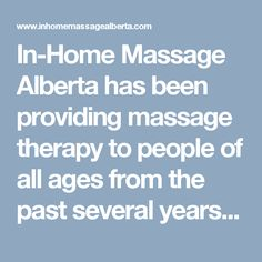 In-Home Massage Alberta has been providing massage therapy to people of all ages from the past several years in Edmonton. Their team of therapists specializes in various massage techniques that proves beneficial for customers. They can also perform massage professionally to ensure your comfort. Massage Techniques, Massage Therapy, Clinic, The Past, People, Massage, People Illustration, Folk
