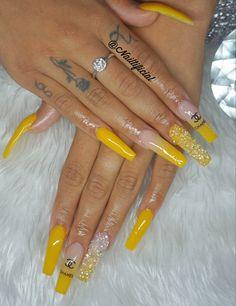 Acrylic Nails Yellow, Long Square Acrylic Nails, Bling Acrylic Nails, Acrylic Nails Coffin Short, Best Acrylic Nails, Black Nails, Purple Nails, Coffin Nails, Dope Nail Designs
