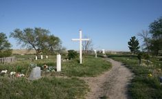 Wounded Knee SD Cemetery on Oglala Sioux Pine Ridge Indian Reservation