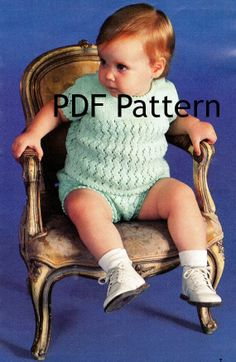 This is a cute baby outfit. Gotta get it. Vintage Knit baby/toddler Top and Pants Pattern. You get the top & bottoms pattern in 3 Sizes: 6 mo, 1 yr and 18 mo. by BubbleGumInTheMail, $2.50