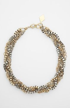 Chunky two-tone necklace, Love!