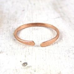 Simple Rose Gold Open Stacking Ring Thick Forged by failjewelry, $34.00