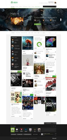Xbox.com Redesign Concept by Ryan Mendes, via Behance