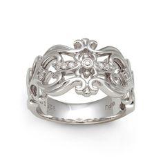 Sterling Silver 1/10ct TDW Diamond Filigree Ring (H-I, I2-I3)