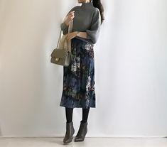 【coordinate】旬の花柄スカートで新年会