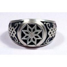 Latvian silver ring - Morning Star