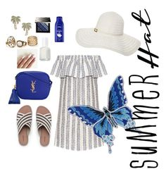"""""""Untitled #32"""" by amanihalaly on Polyvore featuring Sea, New York, Melissa Odabash, Yves Saint Laurent, Lands' End, Kate Spade, Burberry, Nivea, Essie and summerhat"""