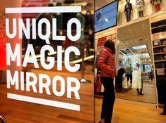 Focus sur le Magic Mirror installé dans un magasin Uniqlo
