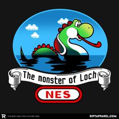 ''The Monster of Loch NES'' by JayHai available today only, 11/01/17, at RIPT Apparel