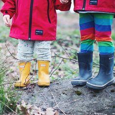 Out exploring #hunterboots #kidsboots #rainboots #kids