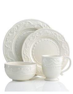 Fitz & Floyd white dinnerware