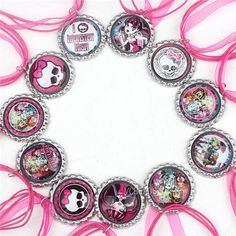 Cheap Necklace - Cute New Monster High Necklace Ribbon Necklaces Cartoon Necklaces