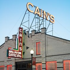 Cain's Ballroom is a historic music venue along Route 66 in Tulsa. Many famous musicians including Bob Wills, The Sex Pistols, The Police and Bob Dylan have all performed here!
