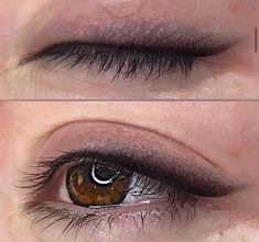 Classic Eyeliner, Thin Eyeliner, Smokey Eyeliner, Semi Permanent Eyeliner, Permanent Makeup Eyebrows, Eyeliner Tattoo, Makeup Tattoos, Beauty Makeup, Eye Makeup