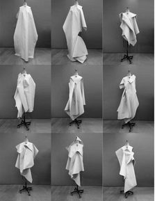 Parsons MA Fashion Graduate lets garments 'crash' – 1 Granary Fashion Sketchbook, Fashion Sketches, Origami Fashion, Fashion Week 2015, Textiles, Fashion Details, Fashion Design, Fashion Portfolio, Sculptural Fashion
