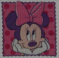 Minnie Mouse Stamp Crochet Pattern