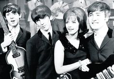 The Beatles with Lill-Babs in 1963. Teaching them boys some jive..