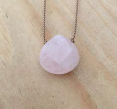 Think Pink with this Rose Quartz Pendant for #BreastCancerAwareness @MocolocoStudio #MocolocoStudio