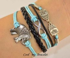Elephants bracelet owl bracelet  Infinity by Coolmybracelet, $4.99