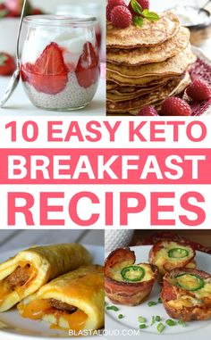 I was looking for some keto breakfast recipes that wasn't just eggs! I found these tasty recipes perfect for the keto diet! #keto #ketodiet #ketosis #ketorecipes