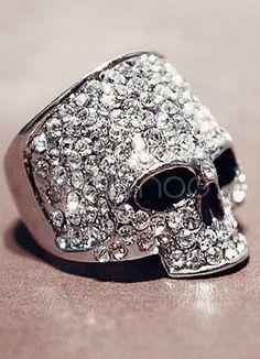 Bague crâne moderne cool - Milanoo.com