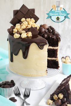 Caramel Chocolate Moxie Cake and a Fair Trade Giveaway!   Sprinkle Bakes