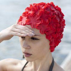 Vintage swim cap (red)