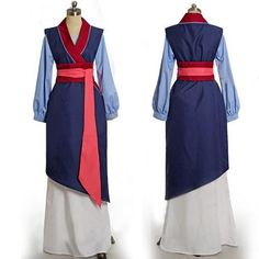 Princess Fa Mulan Costume Blue Cosplay Women Outfit Dress  sc 1 st  Pinterest & Custom Princess Mulan Costume for adults and Kids | cosplay costumes ...