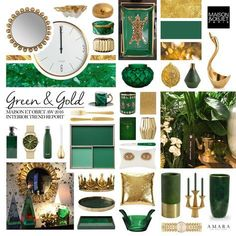 Emerald is set to be the go-to hue for this season in our homes! The perfect accompaniment to this rich colour is metallic hints of gold. Burnished to bright, golden tones will sit beautifully against this strong green shade from dinnerware on the table t