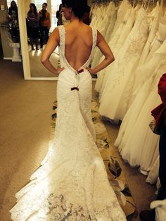 Backless wedding dress by allure