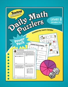 $ Daily Math Puzzlers Level B - Complete daily program for teaching students how to solve word problems - includes all the printables you need to make the system work - preview online before purchasing